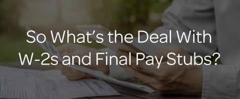 W-2 Vs. Final Pay Stub: Understanding the Difference