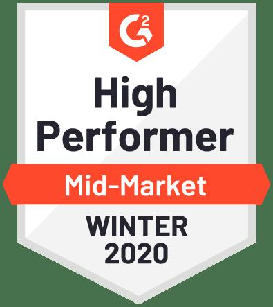 High Performer Mid Market Winter 2020