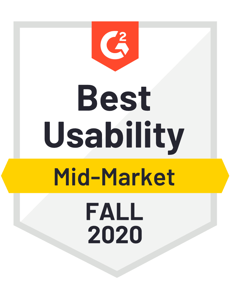 Best Usability Mid Market Fall 2020